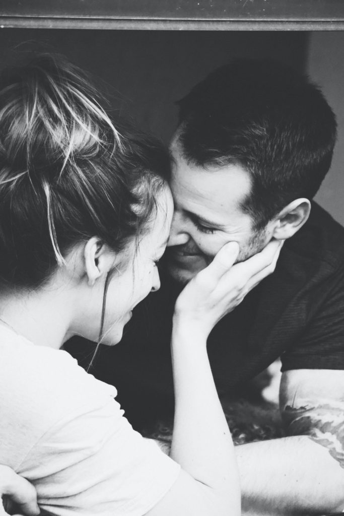 black-white-couple-face-to-face